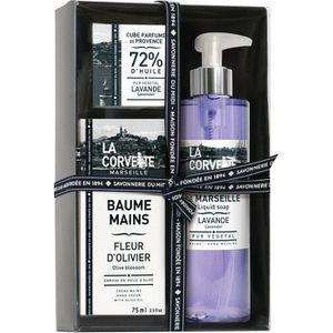 COFFRET CADEAU CORPS Coffret cadeau soin des mains Provence - savon cub