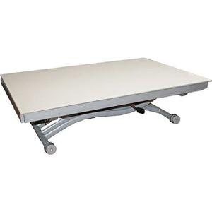 Table basse relevable blanc achat vente table basse for Table basse plateau relevable pas cher