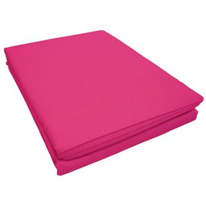 drap plat 2 personnes rose achat vente drap plat 2. Black Bedroom Furniture Sets. Home Design Ideas
