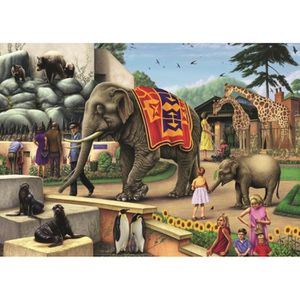 PUZZLE Puzzle 1000 pièces Colin Howard - A Day at the Zoo