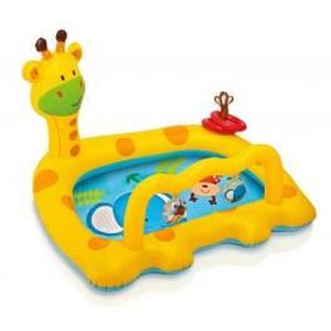 PATAUGEOIRE Pataugeoire girafe - Piscinette gonflable - Intex