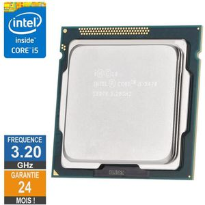 PROCESSEUR Processeur Intel Core I5-3470 3.20GHz SR0T8 FCLGA1