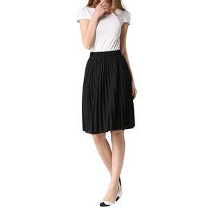 JUPE Jupe Plissée Femmes Robes Longue Taille Elastique