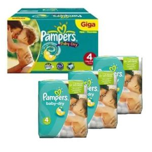 COUCHE 270 Couches Pampers Baby Dry taille 4