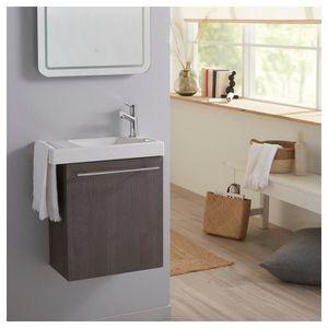 LAVE-MAIN Pack Lave mains sandy grey pour wc avec robinet ea