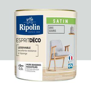 Ripolin Peinture Murale Toutes Pièces Gris Souris Satin 0