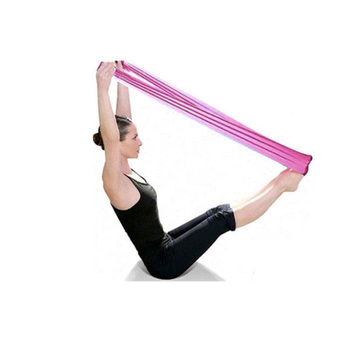 Pilates Gymnastique de yoga aérobic bandes élastiques bandes élastiques rose