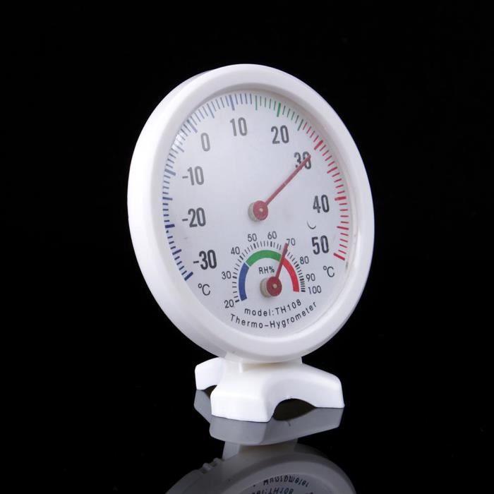 Thermomètre intérieur Hygromètre Analogue d'intérieur TH108 décor maison