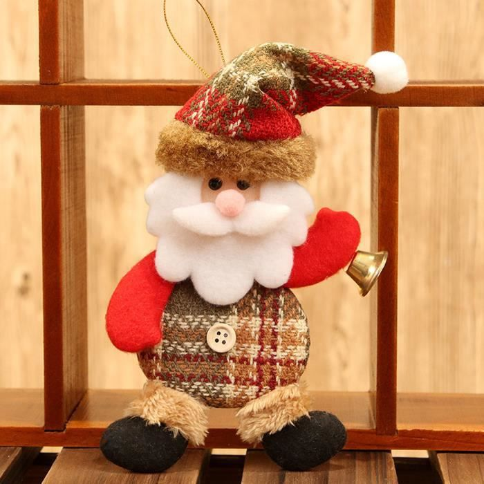 1PC Christmas Ornaments Gift Santa Claus Snowman Toy Doll Hang A1169
