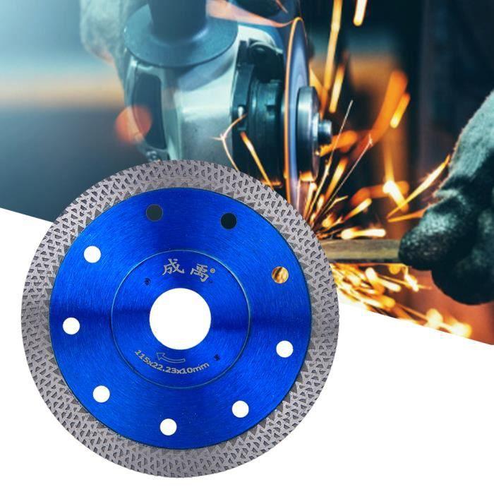 CHI ◘ Kit de remplacement de meuleuse d'angle de roue de coupe de lame de scie diamantée pour marbre en béton (115 mm de diamètre)