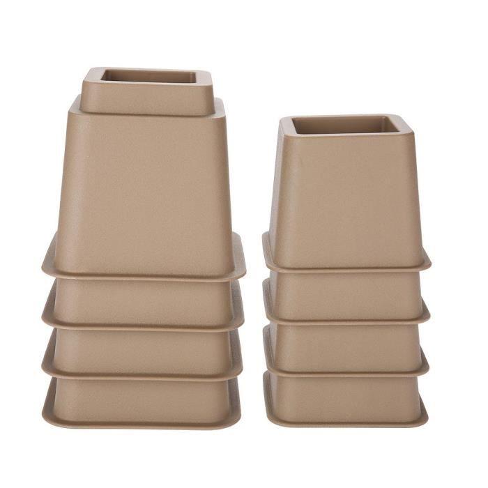 MEE ® Sièges Réglables pour Fauteuils Releveurs de Coffre 4 x 5 Et 4 x 3, Rehausseur de Meubles, Rehausseur de Lit Réglable