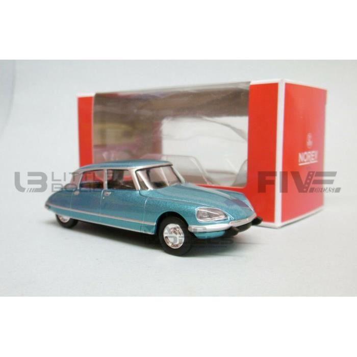 Voiture Miniature de Collection - NOREV 1/64 - CITROEN DS 23 Pallas - 1972 - Blue Metallic - 310705