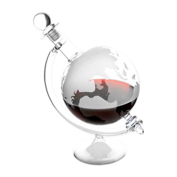 Cognac Caraffe globe avec carte du monde gravé Non seulement pour le Cognac. Il est également approprié pour le jus, Liqueur et e...