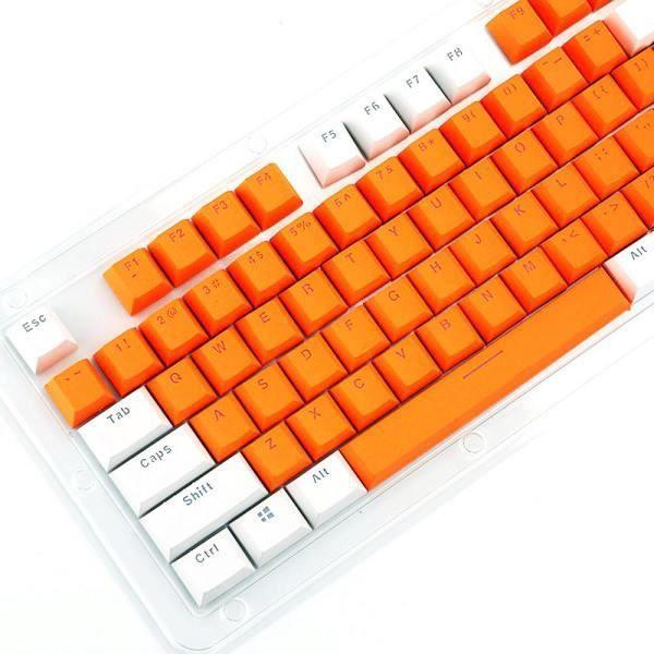 orange Clavier 104 touches Pbt, protège clavier Pour clavier cherry Kailh Gateron Outemu
