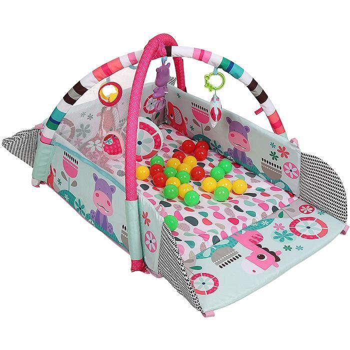 tapis d eveiltapis deveil bébéfonction musicale multifonctionnelleavec balle jouet et petit oreiller (YR271605) 322