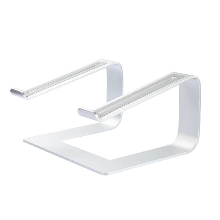 Support tablette,Support de support d'ordinateur Portable support en aluminium pour MacBook Pro 13 support - Type Argent