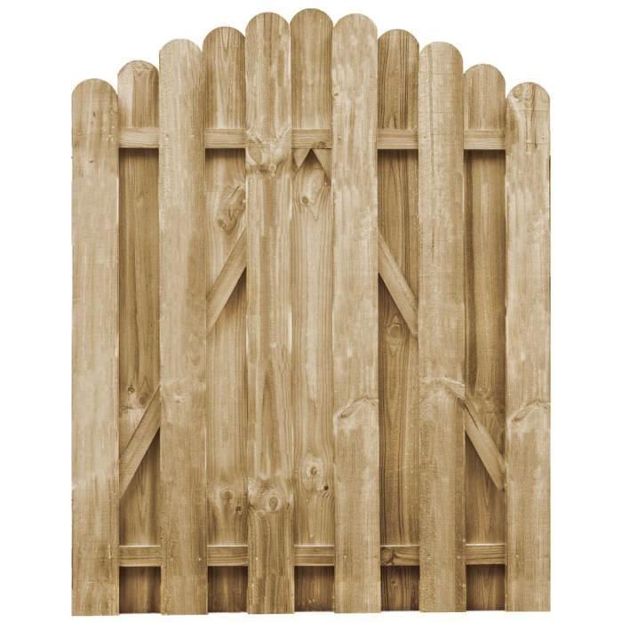 Excellent Qualité :) Portail de jardin Classique - Portillon de Clôture Bois de pin imprégné 100x125 cm &89548&