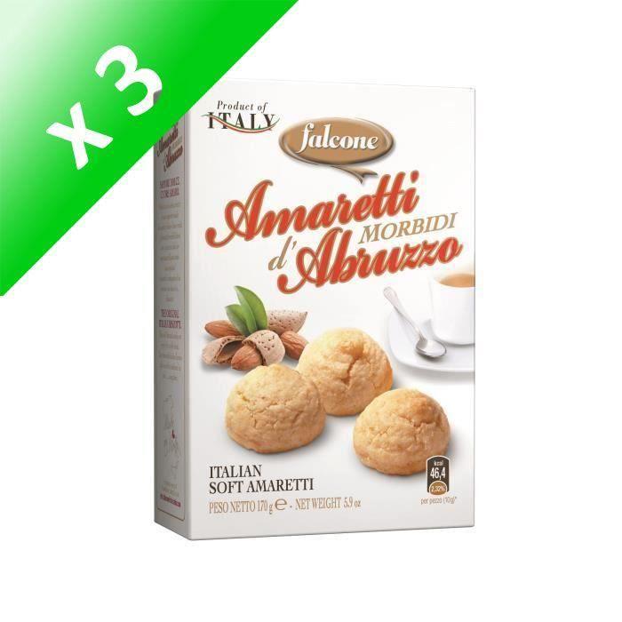 [LOT DE 3] FALCONE Amaretti aux amandes - 170 G