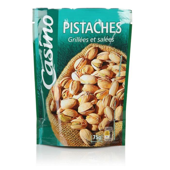 CASINO Pistaches grillées et salées - 75 g