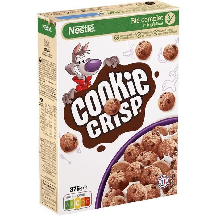 LOT DE 24 - COOKIE CRISP : Céréales aux pépites de chocolat 375 g