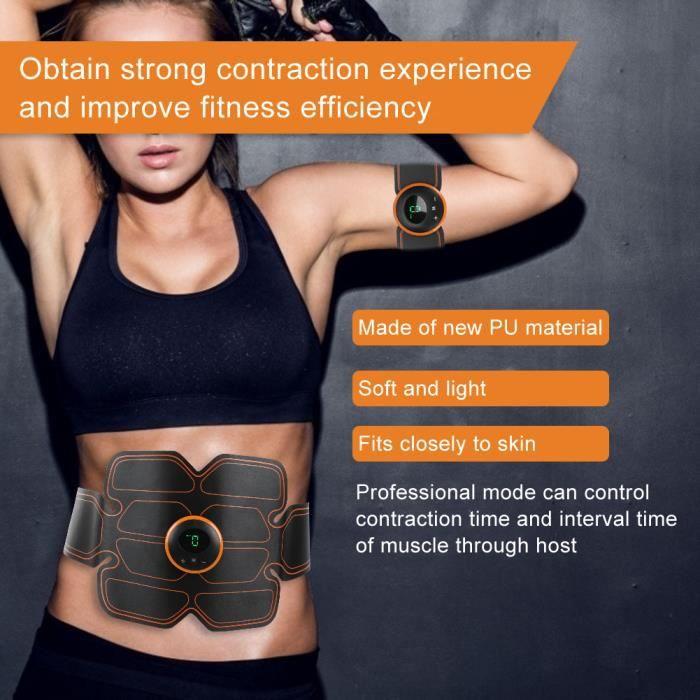 Muscle Trainer Portable Ceinture de stimulation de tonification de bras de corps abdominal