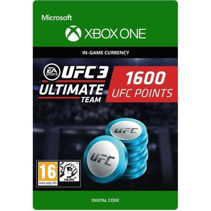 DLC UFC 3: 1600 UFC Points pour Xbox One