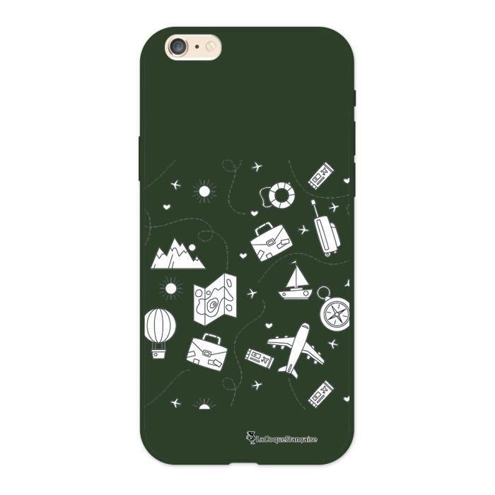 Coque iPhone 6/6S Silicone Liquide Douce vert kaki Aventure Ecriture Tendance et Design La Coque Francaise.