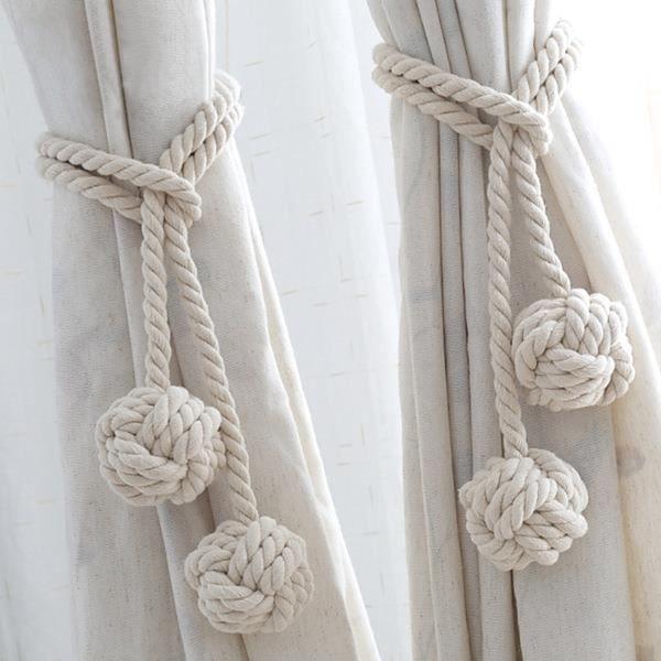 2pcs Accessoires de rideaux créatifs Rideaux de mode Collants Boucles