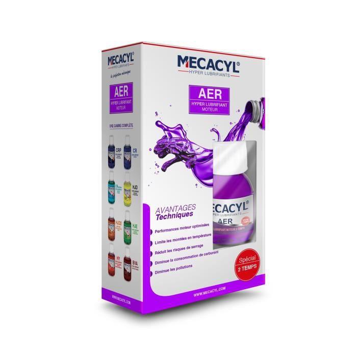 MECACYL AER - Hyper-Lubrifiant - Flacon de 100ml - Spécial Vidange - Pour tous moteurs 2 temps Essence