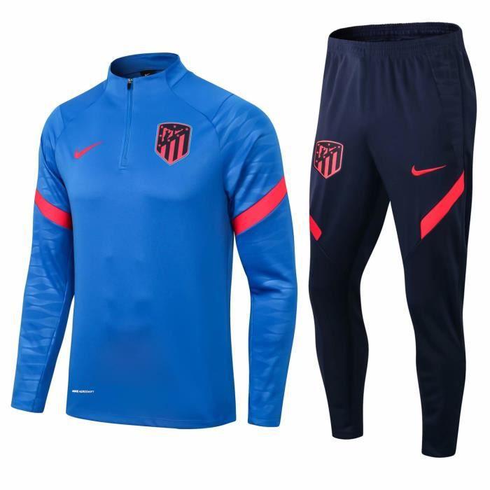 Nouveau Atléticos Madrids Survêtement Maillot de Foot Survet Kit 2021 2022 Pas Cher pour Homme