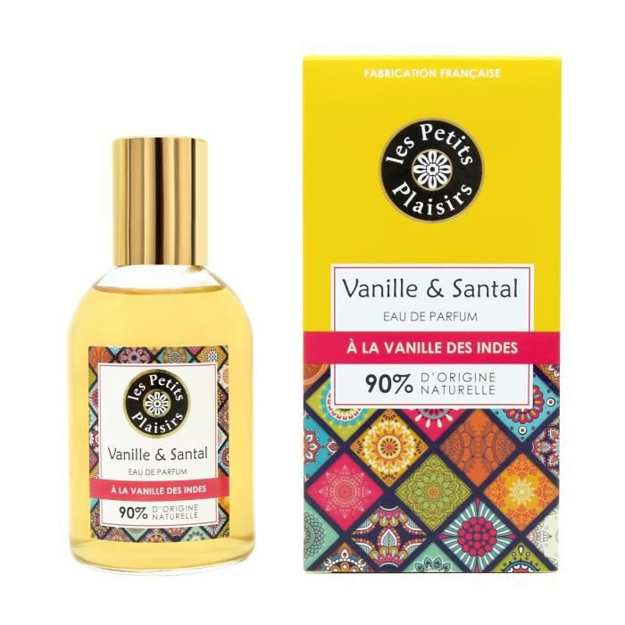 LES PETITS PLAISIRS Eau de parfum - Vanille des Indes & Santal - 90% d'origine naturelle - 100 ml