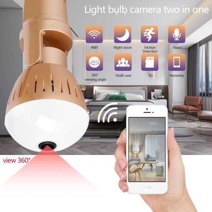 Caméra IP de sécurité pour la maison extérieure Wi-Fi HD sans fil Vision nocturne étanche