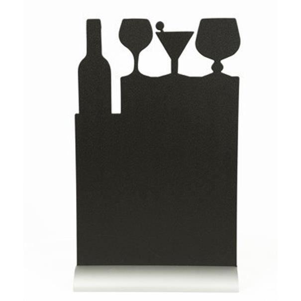 Silhouette de table avec socle aluminium COCKTAIL
