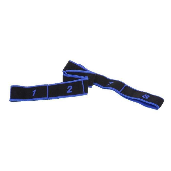 Adultes Bande de Resistance elastique Latine Yoga Pilates Danse Gym Fitness Sangle d'exercices - Bleu, 90x4cm