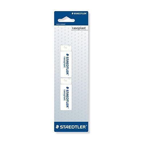 Staedtler 526 gomme rasoplast b2BK2D phtalate et sans latex, 65 x 23 x 13 mm-lot sur carte blister de 2, blanc - 4007817520055