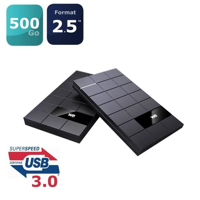 WE V3 disque dur externe 2.5'' 500G