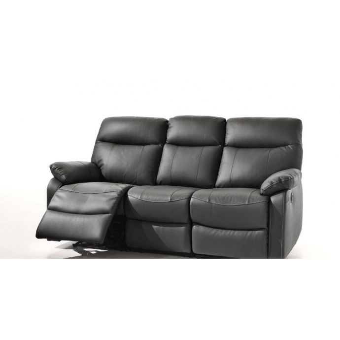 canap cuir relax lectrique achat vente canap sofa. Black Bedroom Furniture Sets. Home Design Ideas