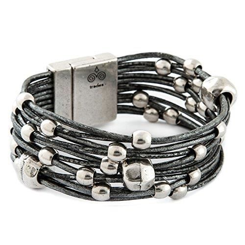 Womens Lacey Leather Bracelet Mb670agr MBRPQ