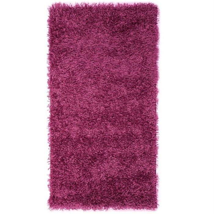 tapis shaggy descente de lit longue m che violet achat. Black Bedroom Furniture Sets. Home Design Ideas