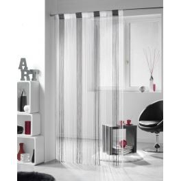 rideau fil multicolor blanc gris et noir achat. Black Bedroom Furniture Sets. Home Design Ideas