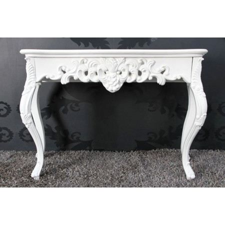 console baroque bianca patin blanc achat vente. Black Bedroom Furniture Sets. Home Design Ideas