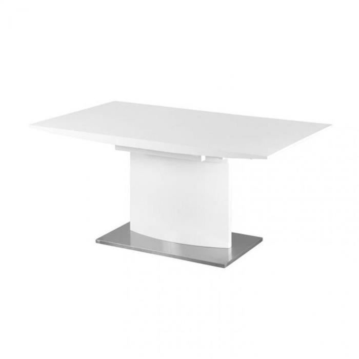 Table design extensible concorde laqu e blanc achat vente table a manger - Table rallonge design ...