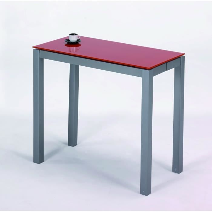 Table extensible largeur 45 80 cm avec extension orange Table extensible 80 cm de large