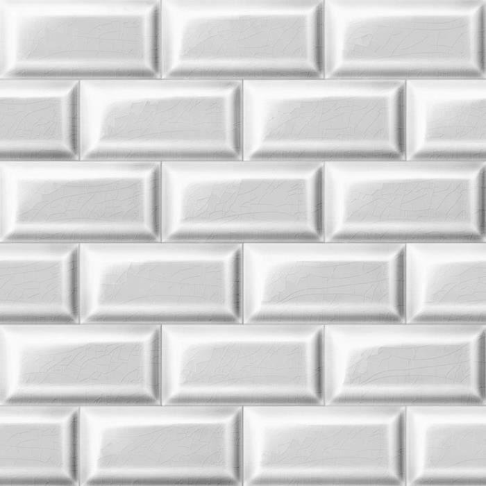Papier Peint Carrelage Metro Blanc Trompe L Oeil Achat Vente Papier Peint Papier Peint Carrelage Metro Cdiscount