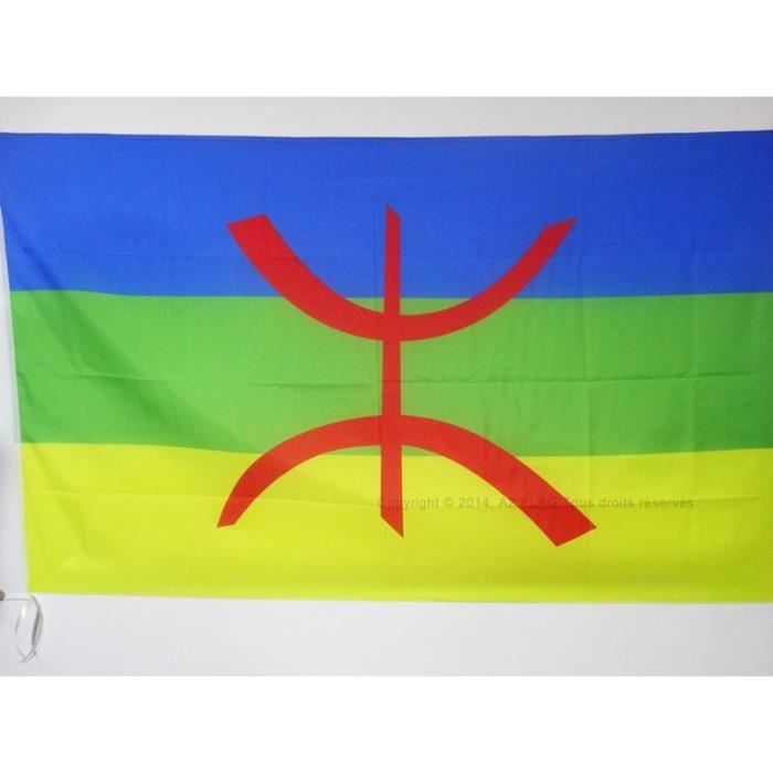 Drapeau kabylie 90x60cm kabyle alg rie berb re haute for Haute kabylie