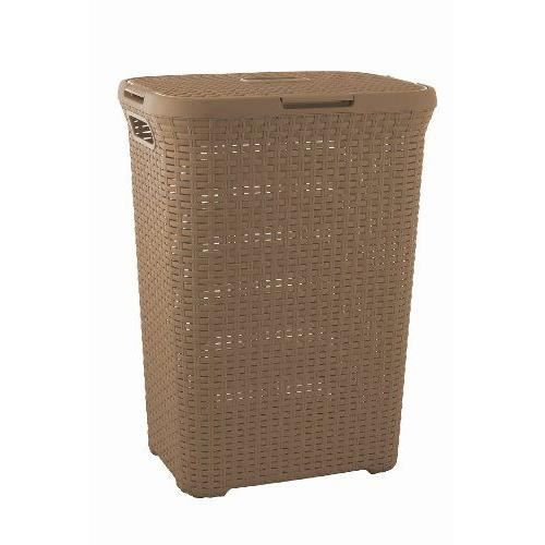 curver 189210 coffre linge aspect rotin polypropyl ne 60 l achat vente panier a linge. Black Bedroom Furniture Sets. Home Design Ideas