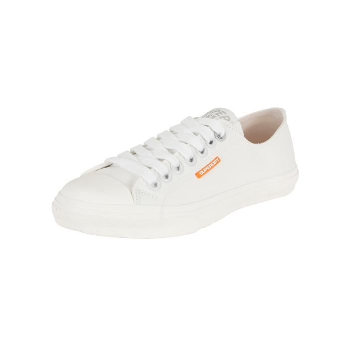 Superdry Homme Low Pro Sleek espadrille Formateurs, Blanc