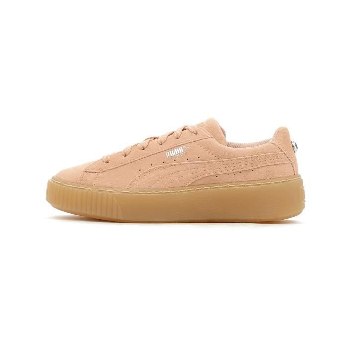 Baskets basses Puma Suede Platform Jewel PS Rose Rose - Achat ... ade2c8546b27