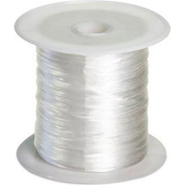 jusqu/'à 1,5 kg Fil nylon transparent blanc 0,15 mm x 100 M