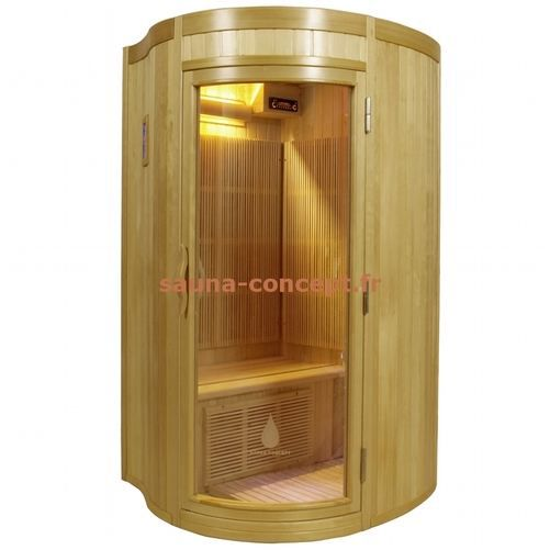 sauna infrarouge sirius 2 places hemlock achat vente. Black Bedroom Furniture Sets. Home Design Ideas